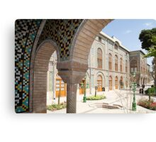 Palace Buildings, Pretty Mosaic Tiled Arch, Tehran, Iran Canvas Print