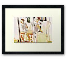 Elegant Dame Framed Print