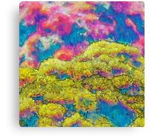 Marigolds in Impressionist Oils Canvas Print