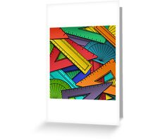 Protractors & Rulers Greeting Card
