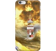 Henry Winstanley's Eddystone Lighthouse in a Stormy Sea  iPhone case iPhone Case/Skin