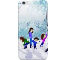 Playing in the Snow iPhone Case/Skin