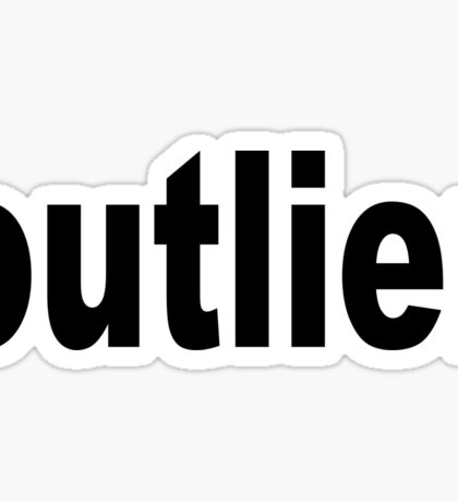 Outlier moved off the Center for Statisticians Sticker