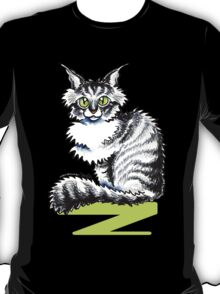 Maine Coon Tabby | Black T-Shirt