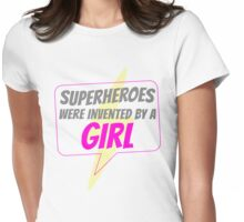 Tight Pants and Capes--by Ladies, for Ladies Womens Fitted T-Shirt