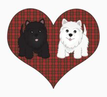 Scottie Dogs in a Tartan Heart by ArtformDesigns