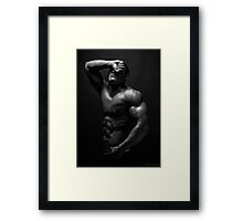 Retribution in Darkness Framed Print