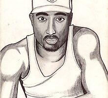 2pac shakur by odinel  pierre junior