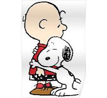 Snoopy Hug Poster