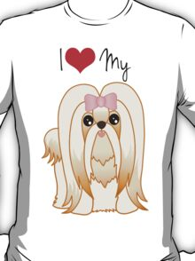 Cute Little Shih Tzu Puppy Dog T-Shirt