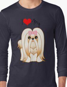 Cute Little Shih Tzu Puppy Dog Long Sleeve T-Shirt