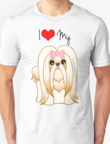 Cute Little Shih Tzu Puppy Dog Unisex T-Shirt