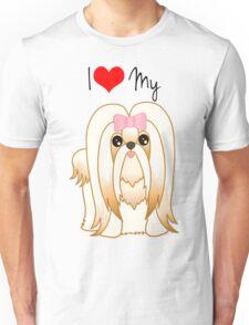 Cute Little Shih Tzu Puppy Dog Unisex T-Shirt