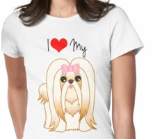 Cute Little Shih Tzu Puppy Dog Womens Fitted T-Shirt