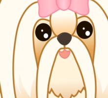 Cute Little Shih Tzu Puppy Dog Sticker