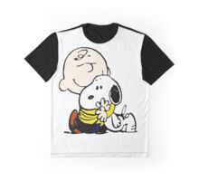 Lovely Snoopy Hug Graphic T-Shirt
