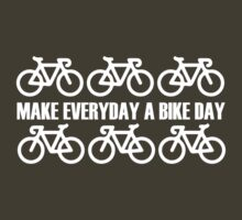 Make Everyday A Bicycle Day (dark) by KraPOW