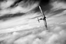Spitfire solo black and white version by Gary Eason + Flight Artworks
