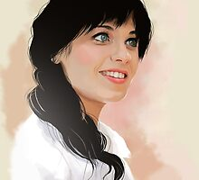 Zooey Deschanel by Leanne Harrison