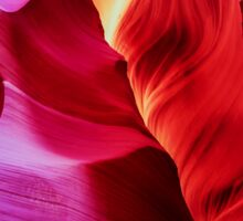 Sandstone Swirls - Lower Antelope Canyon, Arizona, USA Sticker