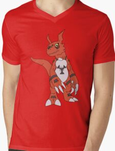 Guilmon Mens V-Neck T-Shirt