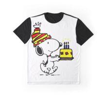 Happy Birthday Snoopy Graphic T-Shirt