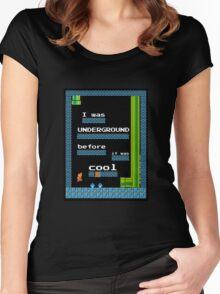 Mario Underground Women's Fitted Scoop T-Shirt