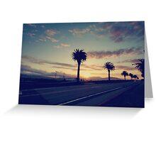 Sunset Drive Greeting Card