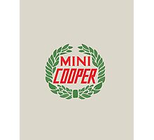 Mini Cooper Logo Photographic Print