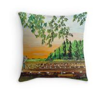 Hands Working The Earth Throw Pillow