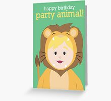 Party Animals Birthday Card (Lion) Greeting Card