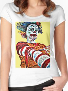 Self medicating Ronald McDonald  Women's Fitted Scoop T-Shirt