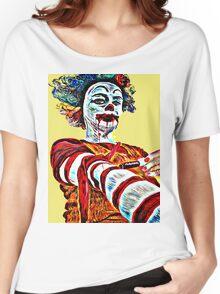 Self medicating Ronald McDonald  Women's Relaxed Fit T-Shirt