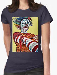 Self medicating Ronald McDonald  Womens Fitted T-Shirt