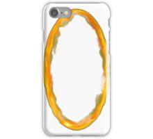 Orange Portal Door - White iPhone Case/Skin