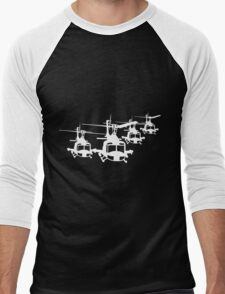Huey Helicopter Team Sticker/Decal White v1  T-Shirt