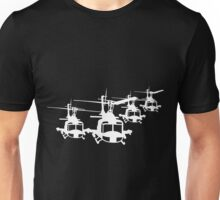 Huey Helicopter Team Sticker/Decal White v1  Unisex T-Shirt