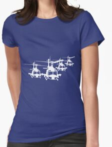 Huey Helicopter Team Sticker/Decal White v1  Womens Fitted T-Shirt
