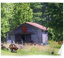 JUNKY OLD SHED/BARN Poster