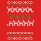 Human Centipede Christmas Sweater - Red by PenguinPlot