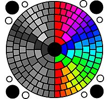 Rainbow circle color and grayscale pattern Photographic Print