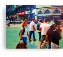 Piccadilly Street Scene 2 Canvas Print