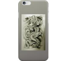 silver dragon iPhone Case/Skin