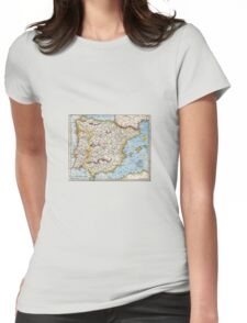 Antique map Womens Fitted T-Shirt