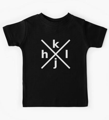 hjkl for Hardcore Vi/Vim Hackers - White Font Kids Tee