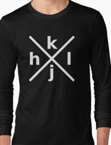 hjkl for Hardcore Vi/Vim Hackers - White Font Long Sleeve T-Shirt