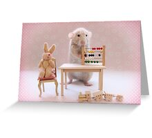 Poppy learning to count! Greeting Card