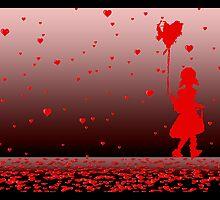 raining hearts by maydaze