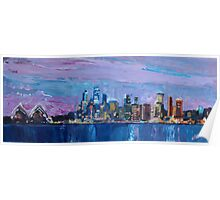 Sydney Skyline with Opera House at Dusk Poster