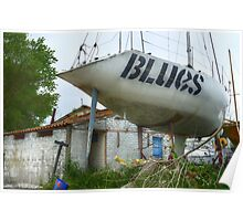 Blues Boat Poster